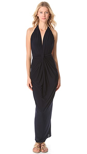 Tbags Los Angeles Halter Neck Maxi Dress
