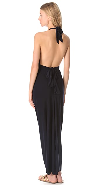 MISA Halter Neck Maxi Dress