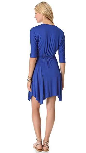 MISA 3/4 Sleeve Mini Dress