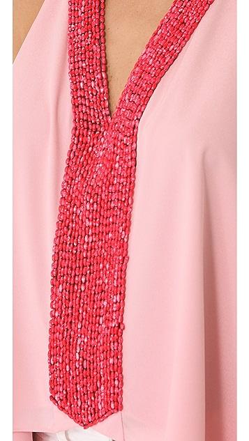 MISA Embellished Drape Top
