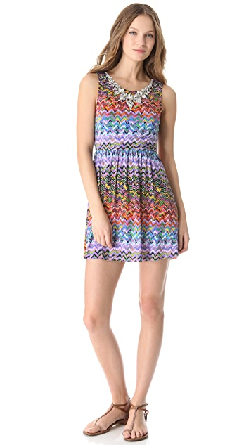 MISA Embellished Mini Dress
