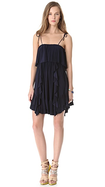 MISA Ruffled Dress