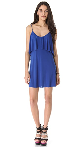 MISA Open Back Flutter Dress