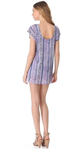 MISA Printed Sequin Dress