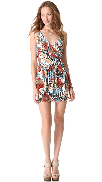 MISA Cinched Waist Mini Dress