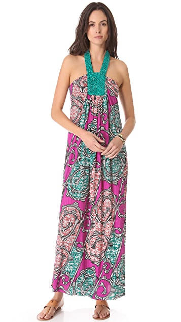 MISA Beaded Maxi Dress
