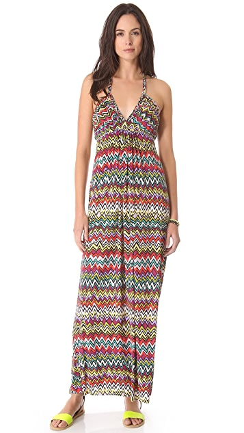 MISA Maxi Dress with Braided Straps