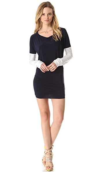 Tbags Los Angeles Contrast Sleeve Dress
