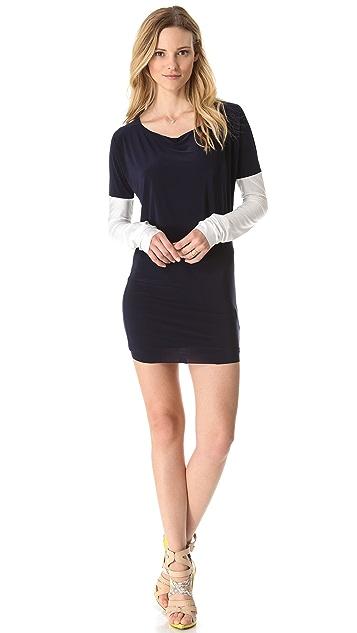MISA Contrast Sleeve Dress