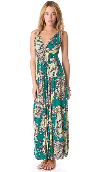 MISA Open Back Maxi Dress