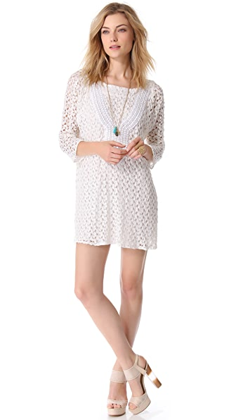 Tbags Los Angeles Crochet Mini Dress