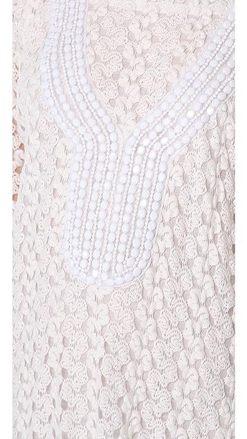MISA Crochet Mini Dress