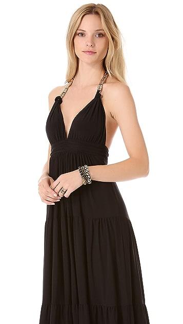 MISA Halter Maxi Dress