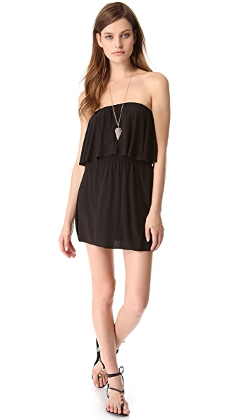Tbags Los Angeles Strapless Tiered Dress