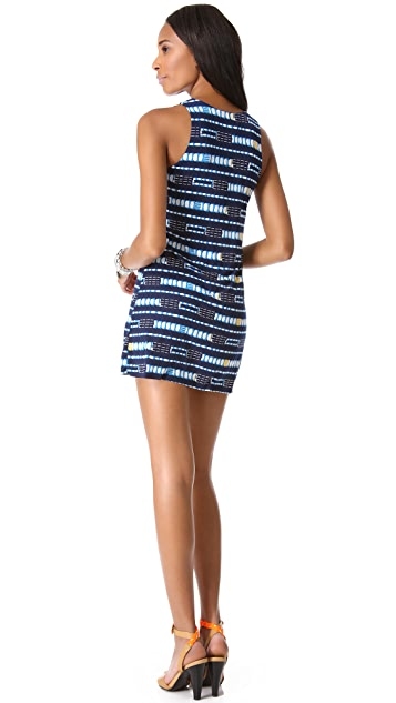 MISA Scoop Neck Mini Dress