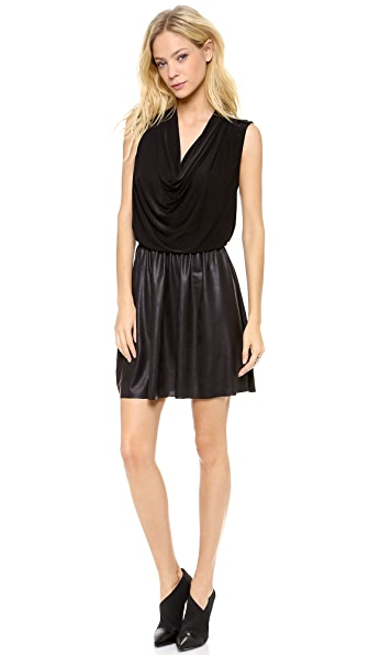 MISA Petra Draped Neck Mini Dress