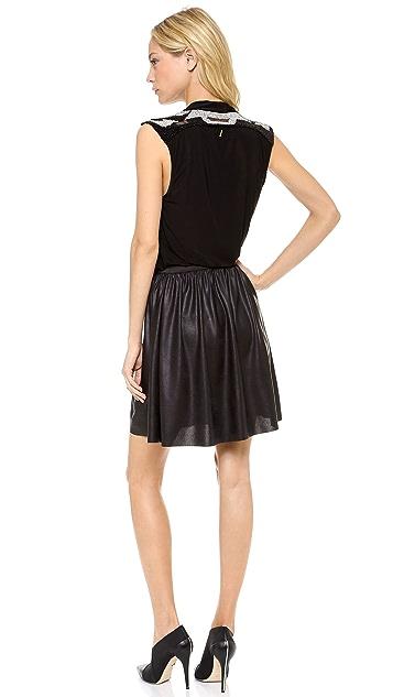 MISA Petra Draped Neck Mini Dress