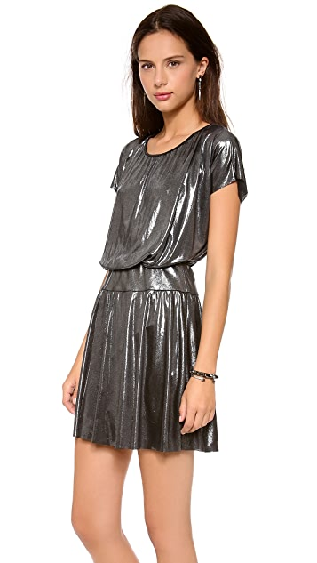 MISA Short Sleeve Mini Dress