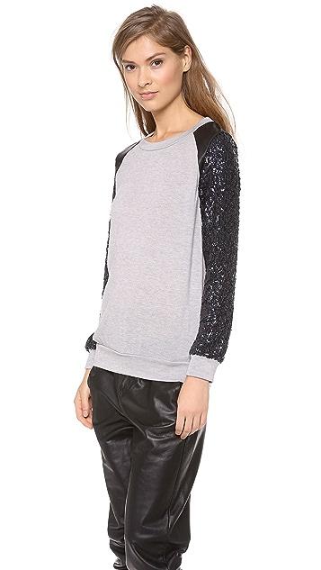 MISA Sequin Sleeve Sweater