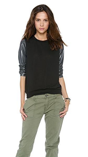 MISA Metallic Sleeves Sweater