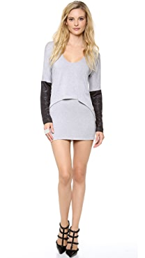 Tbags Los Angeles Overlay Sweater Dress