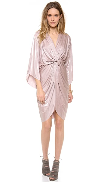 MISA Petra Metallic Twist Front Dress