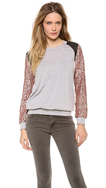 MISA Sequin Sleeve Top