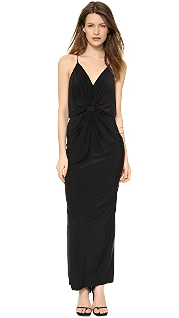 MISA Maxi Dress with Knot Detail