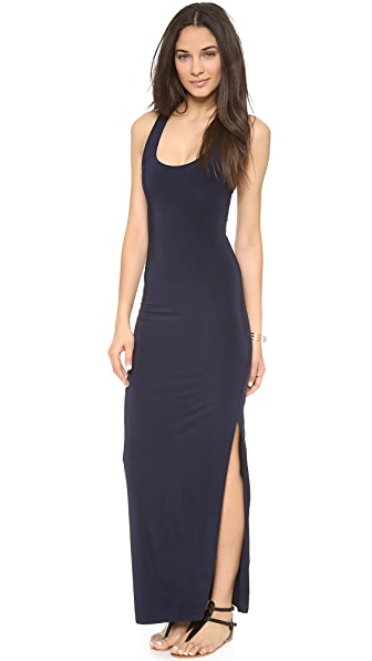 Tbags Los Angeles Racer Back Maxi Dress with Slit