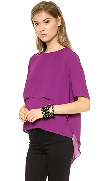 MISA Short Sleeve Blouse