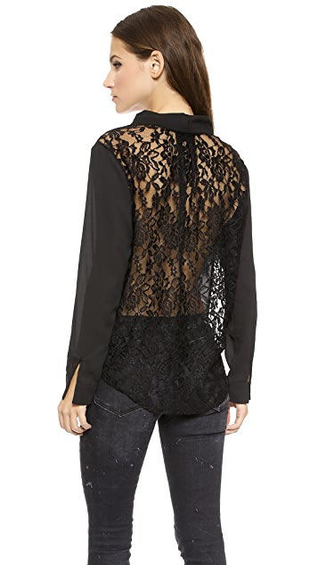 MISA Shirt with Lace Back
