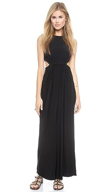 MISA Cutout Maxi Dress