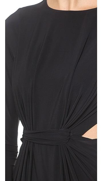 MISA Long Sleeve Cutout Mini Dress