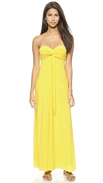 MISA Strapless Knotted Maxi Dress