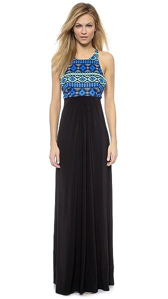 MISA Crisscross Back Maxi Dress