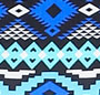 Blue/Black Print