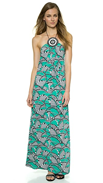 MISA Medallion Detail Maxi Dress