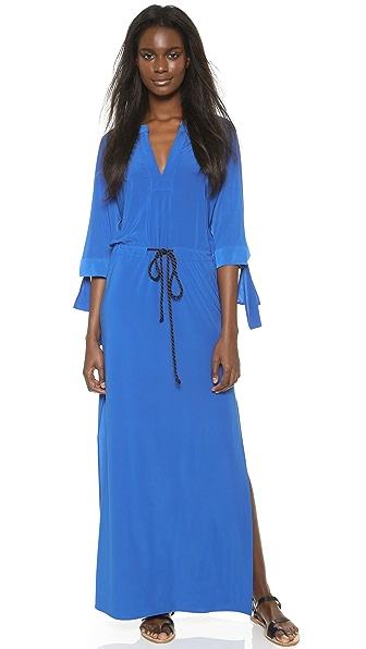 Kupi Tbags Los Angeles online i prodaja Tbags Los Angeles Maxi Dress With High Slits Indigo haljinu online