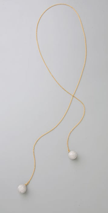 TOM BINNS Bejeweled Lariat Necklace