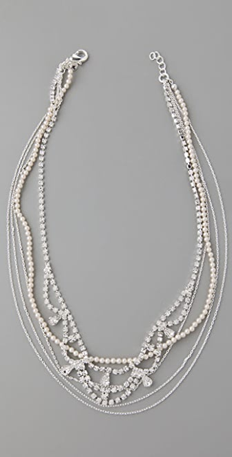 TOM BINNS Pearls in Peril Multi Layer Necklace