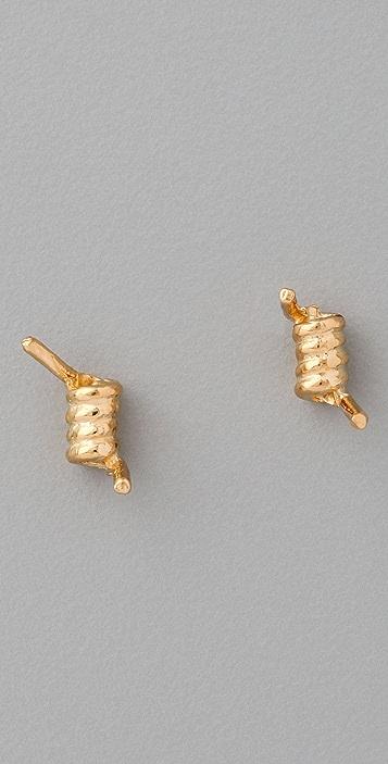 TOM BINNS Barricade Babe Barb Wire Studded Earring