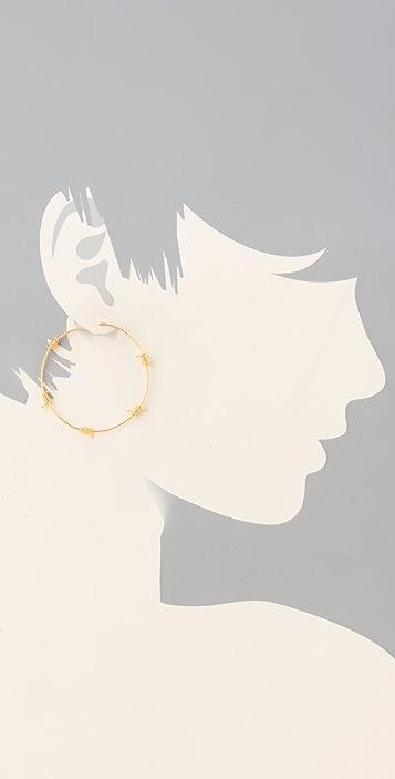TOM BINNS Barricade Babe Barbwire Hoop Earrings