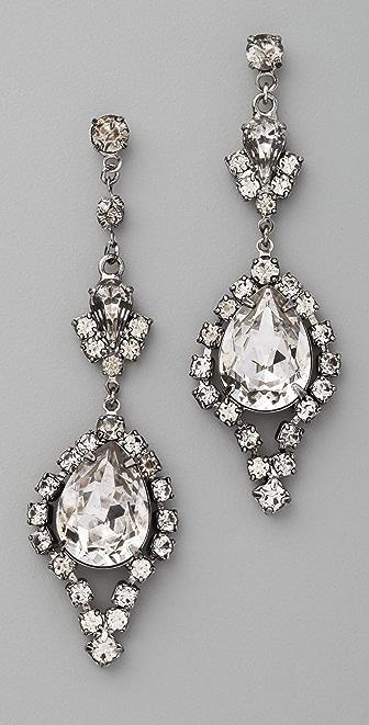 TOM BINNS Dumont Crystal Teardrop Earrings