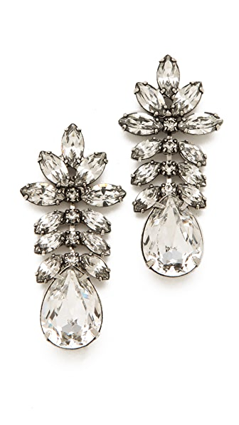 TOM BINNS Madame Dumont Earrings with White Crystals