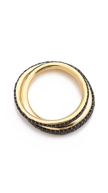 TOM BINNS Bejeweled Saturn Ring