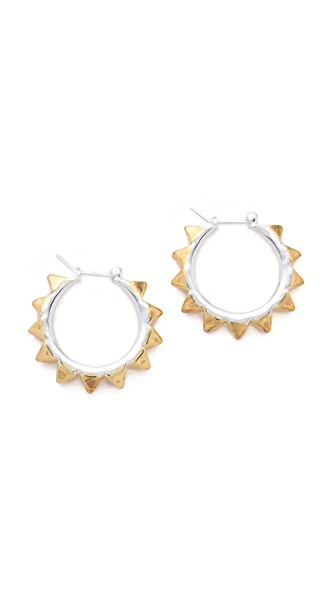 TOM BINNS Petite Clash Pyramid Hoops