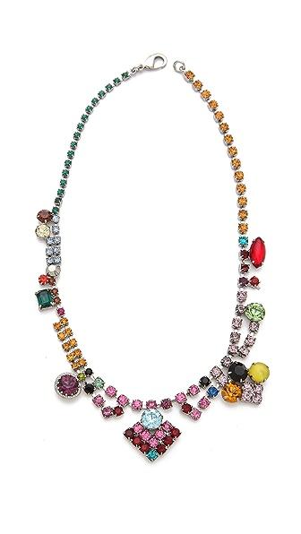 TOM BINNS Faux Real Multi Crystal Necklace