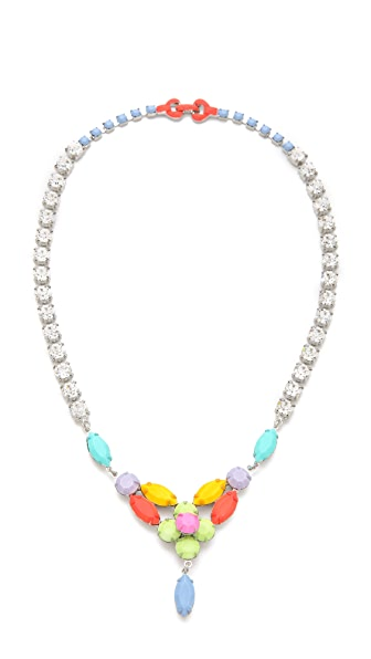 TOM BINNS Soft Power Flower Bib Necklace