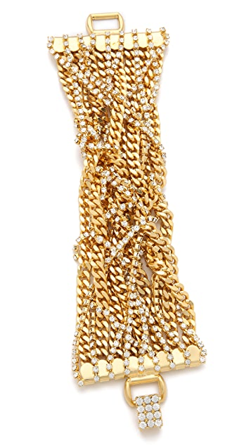 TOM BINNS Uber Urban Wide Chain & Crystal Bracelet