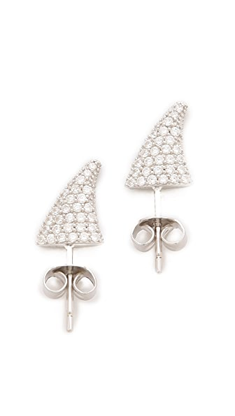 TOM BINNS Bejeweled Rose Thorn Studs